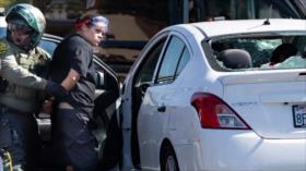 Vídeo: Un coche embiste a manifestantes en EEUU y deja 2 heridos