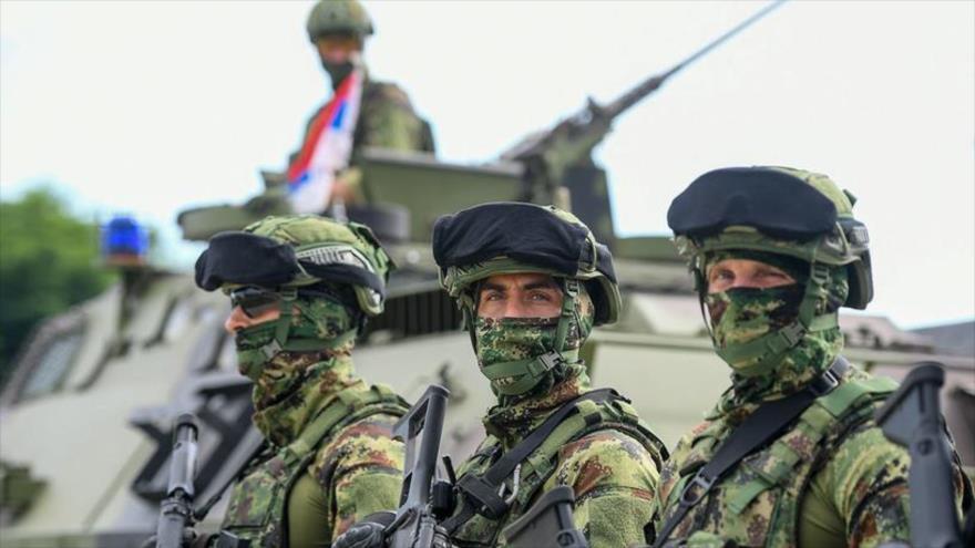 Militares rusos y bielorrusos en los ejercicios, llamados Hermandad Eslava 2020.