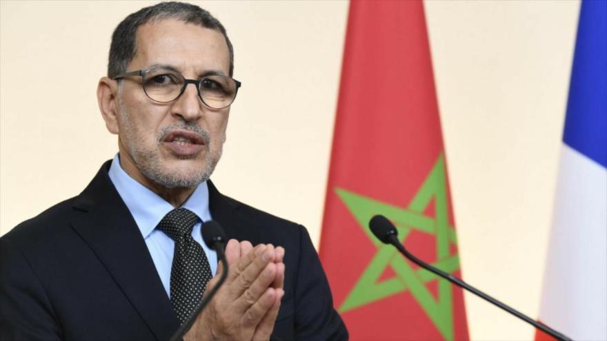 El primer ministro marroquí, Saad-Eddine El-Othmani, ofrece un discurso en París, capital de Francia, 19 de diciembre de 2019. (Foto: AFP)
