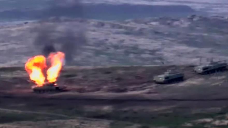 Azerbaiyándice haber tomado el control de 7 localidades armenias
