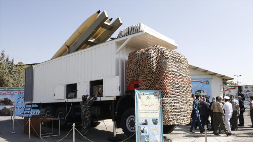Hadaf-2, un nuevo lanzador de misiles presentado por el Ejército iraní, 27 de septiembre de 2020.