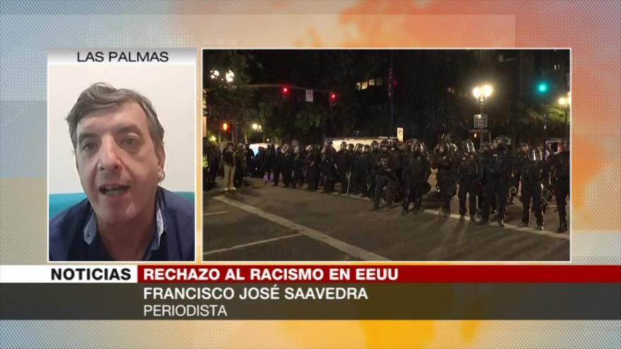 Saavedra: Trump está aprovechando el cambio de protestas a disturbios