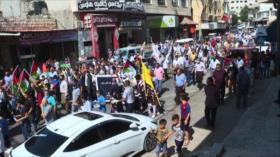 Cientos de palestinos salen a las calles en la Cisjordania ocupada