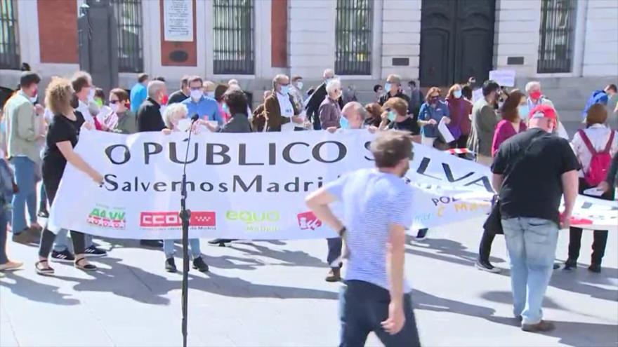Residentes de Madrid viven momentos de pánico por COVID-19