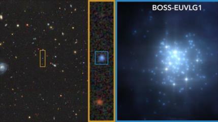 Hallan galaxia con luminosidad UV comparable a la de un cuásar