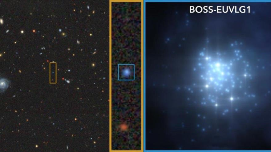 La galaxia denominada BOSS-EUVLG1.