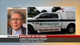 """""""Las masacres en Colombia tienen objetivo de lucro y no político"""""""