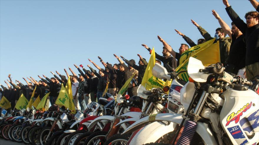 Partidarios de Hezbolá en el distrito de Marjayoun, en el sur de El Líbano, 25 de mayo de 2020. (Foto: AFP)