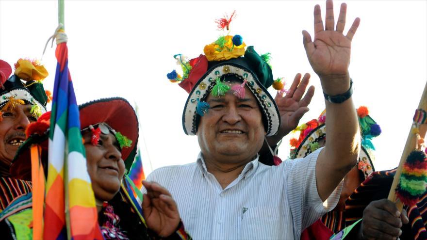 El expresidente boliviano Evo Morales participa en un acto en Argentina, 7 de marzo de 2020. (Foto: AFP)