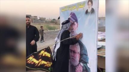 Se viraliza vídeo del homenaje de peregrino iraquí a Soleimani