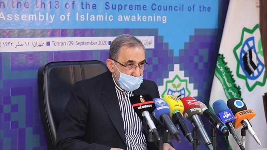El secretario general de la Asamblea Mundial del Despertar Islámico, Ali Akbar Velayati, Teherán, 29 de septiembre de 2020. (Foto: Tasnim)