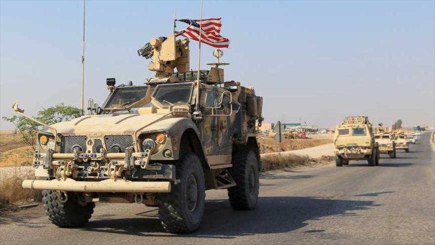Un convoy de vehículos militares estadounidenses a las afueras de Dahuk, Irak, 21 de octubre de 2019. (Foto: Reuters)