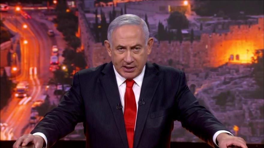 El primer ministro israelí, Benjamín Netanyahu, habla ante la Asamblea General de las Naciones Unidas (AGNU), 29 de septiembre de 2020.