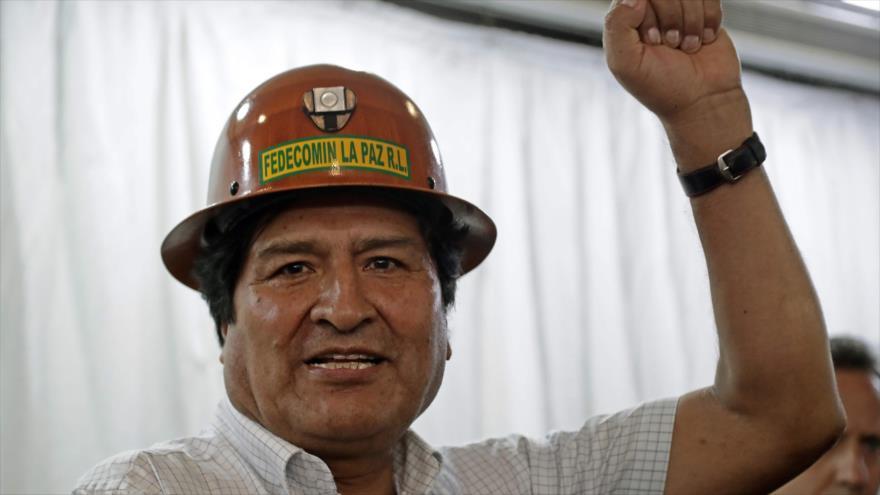 El expresidente boliviano Evo Morales durante una rueda de prensa en Buenos Aires, Argentina, 29 de diciembre de 2019. (Foto: AFP)