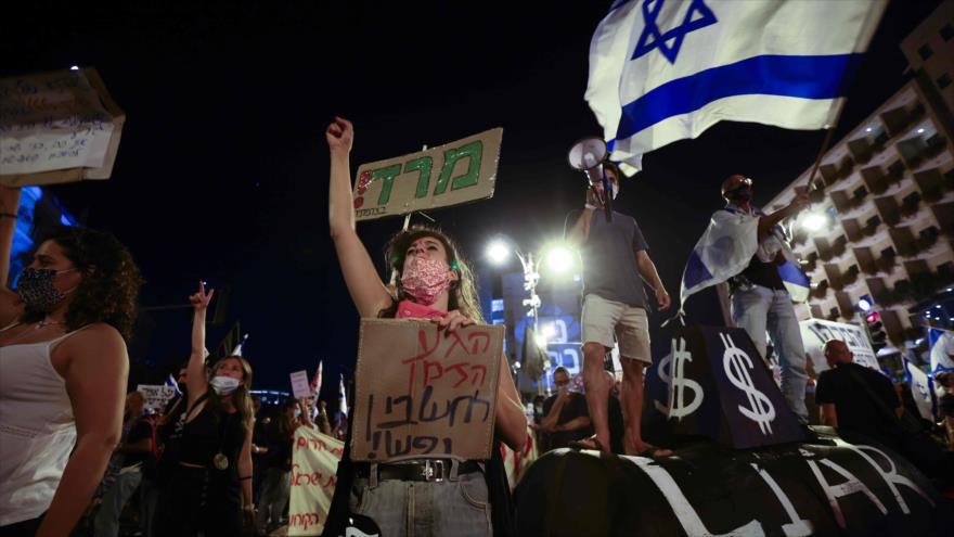 Israelíes rechazan la ley que limita las protestas anti-Netanyahu   HISPANTV