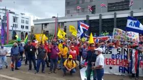 Bloquean carreteras en Costa Rica en rechazo al acuerdo con FMI
