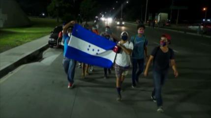 Nueva caravana de migrantes hondureños avanza rumbo a EEUU
