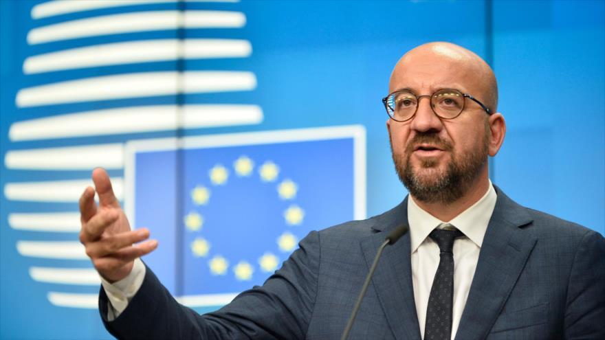 El presidente del Consejo Europeo (CE), Charles Michel, habla en una rueda de prensa en Bruselas (capital belga), 2 de octubre de 2020. (Foto: AFP)