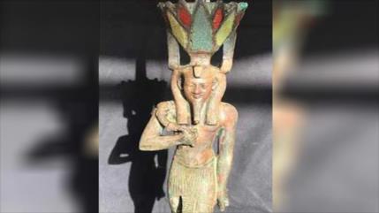 Descubren estatua de bronce de un dios egipcio en El Cairo