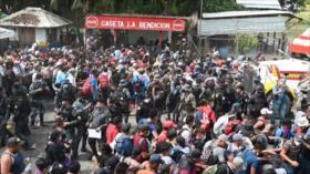 La caravana de migrantes cruza Guatemala en medio de pandemia