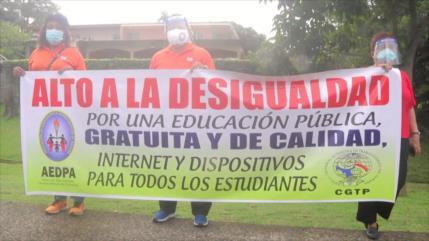 Protestan en Panamá por mejores condiciones del sistema educativo