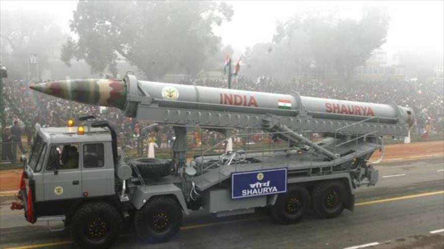 La India ensaya una versión modernizada de su misil hipersónico Shaurya, 3 de octubre de 2020.