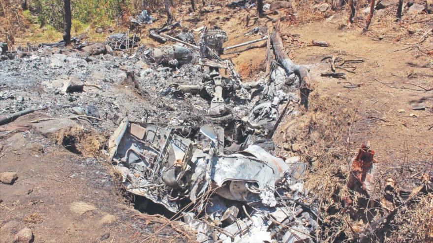El derribo de un helicóptero Cougar de la Fuerza Aérea mexicana por parte del Cártel Jalisco Nueva Generación, mayo de 2015.