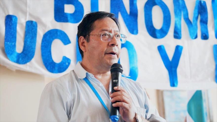 El candidato presidencial por el Movimiento al Socialismo (MAS), Luis Arce, en Cobija, departamento de Pando, Bolivia, 7 de octubre de 2020.