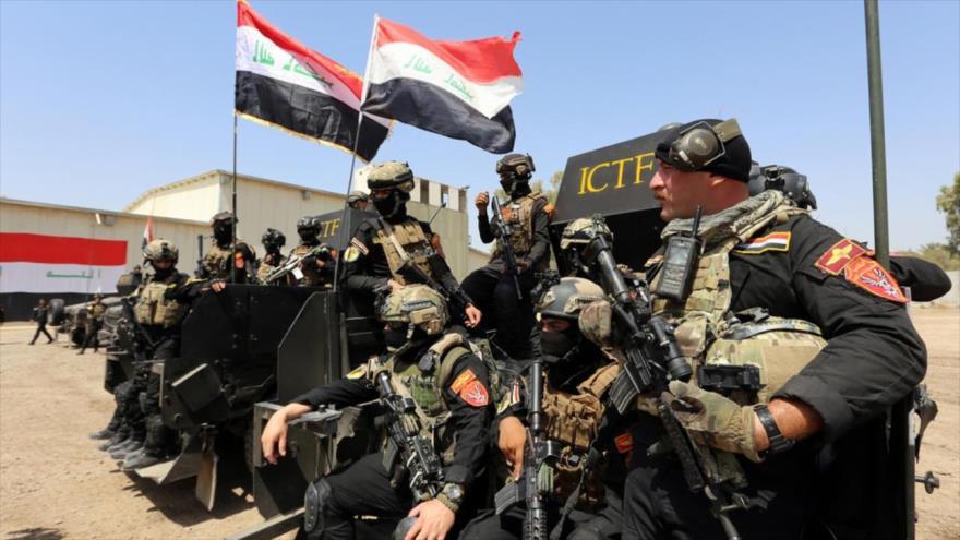 Fuerzas iraquíes desplegadas en la ciudad de Sherqat, en el sur de la provincia de Mosul.