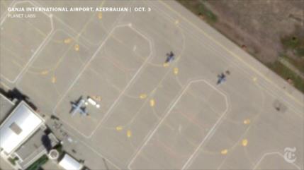 Fotos satelitales muestran cazas F-16 de Turquía en Azerbaiyán