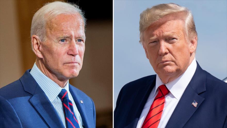 El candidato demócrata a las elecciones presidenciales de EE.UU., Joe Biden, y su rival republicano, el actual presidente de EE.UU., Donald Trump.
