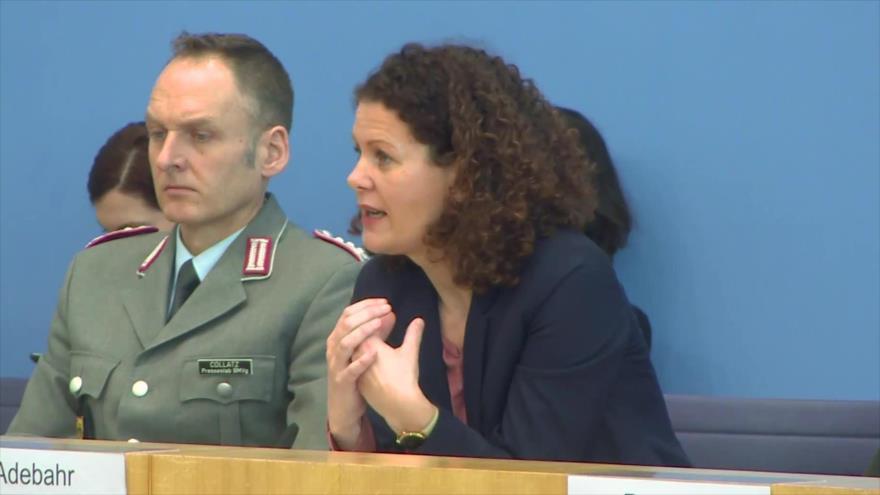 La portavoz del Ministerio de Asuntos Exteriores de Alemania, Maria Adebahr.