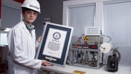 Récord Guinness: Joven de 14 años crea una fusión nuclear en casa