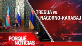 """El Porqué de las Noticias: Sanciones contra Irán. Conflicto Azerbaiyán-Armenia. AMLO critica """"autoritarismo"""" de gobiernos anteriores"""