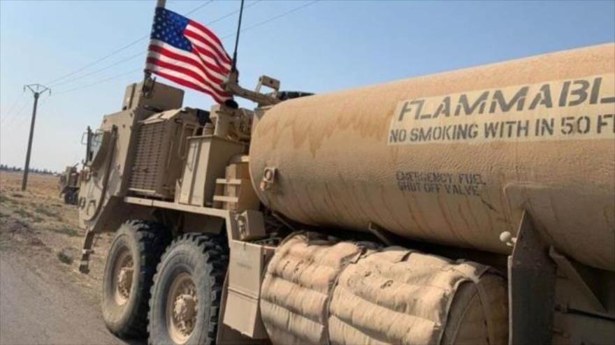 Un camión cisterna estadounidense capturado en las regiones norteñas de Siria.