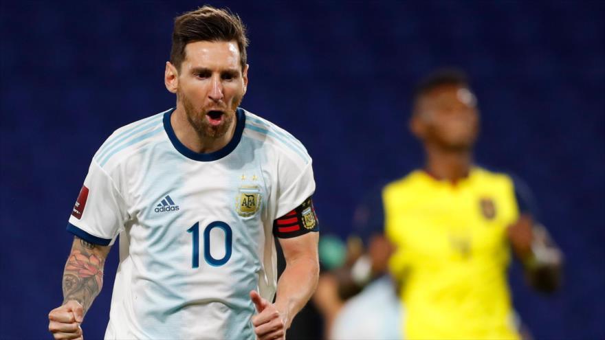 El jugador argentino Lionel Messi en un partido en Buenos Aires, Argentina, 8 de octubre de 2020. (Foto: AFP)