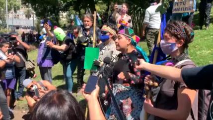 Indígenas presentan sus demandas en Santiago de Chile