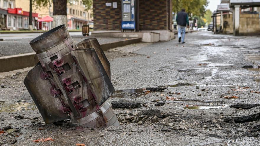 Hallan bombas israelíes sin explotar en la zona de Nagorno Karabaj | HISPANTV