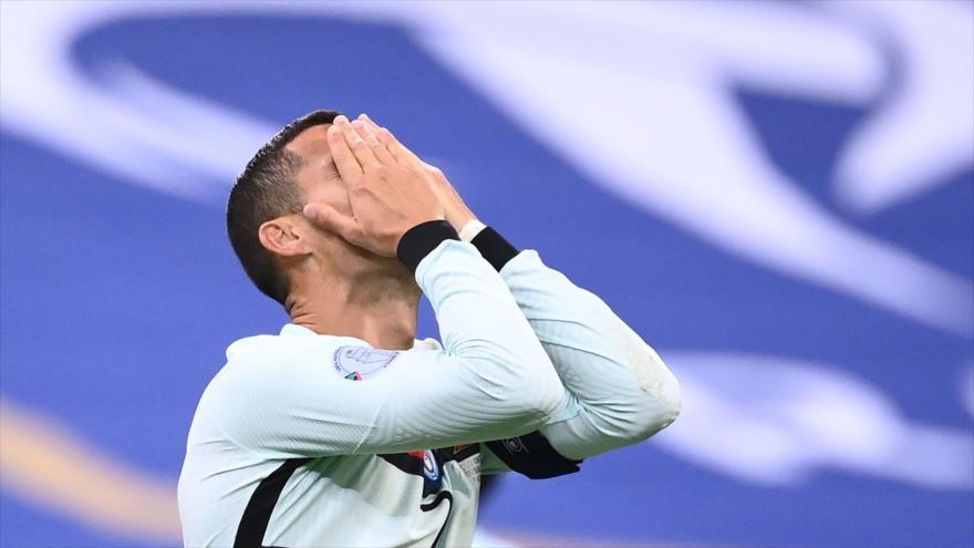 El delantero portugués Cristiano Ronaldo durante un partido de la Liga de las Naciones entre Francia y Portugal, 11 de octubre de 2020. (Foto: AFP)