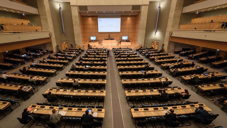 Una sesión del Consejo de Derechos Humanos de las Naciones Unidas (CDHNU), celebrado en Ginebra (Suiza), 14 de septiembre de 2020. (Foto: AFP)