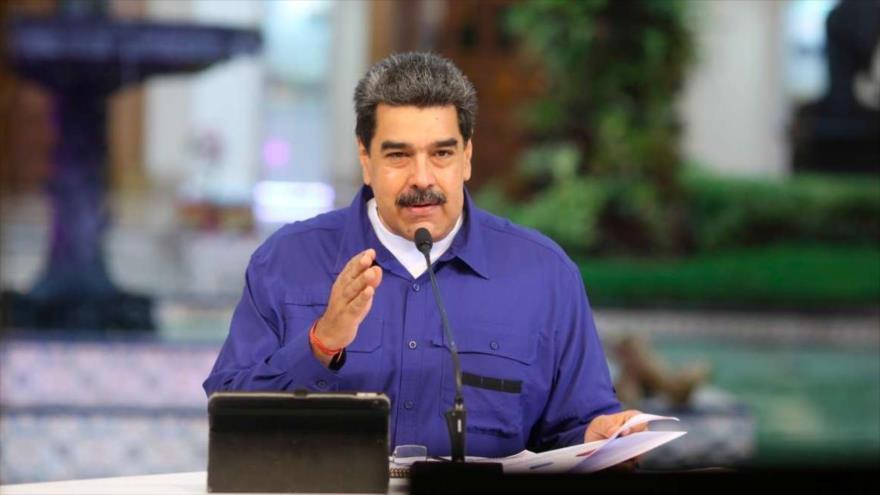 El presidente venezolano, Nicolás Maduro, durante un discurso televisivo en Caracas, la capital.