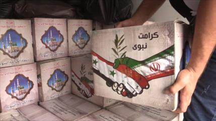 Irán entrega ayudas humanitarias a afectados por incendios en Siria