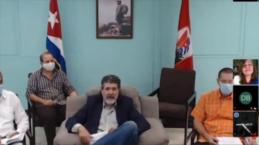 Captura de pantalla del tributo virtual del Foro de São Paulo a Salvador Allende, 15 de octubre de 2020.