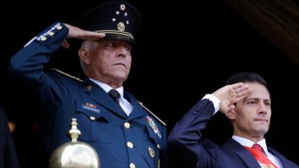 Detienen en EEUU al secretario de Defensa de Peña Nieto