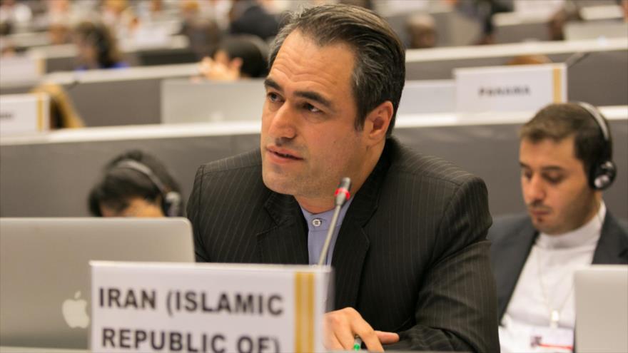 El representante de Irán en la primera Comisión de la Asamblea General de las Naciones Unidas (AGNU), Heidar Ali Baluyi.