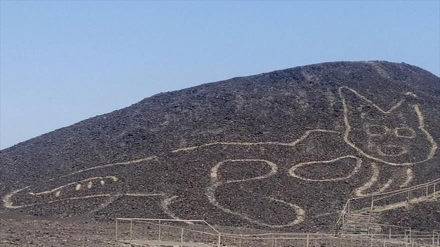 Arqueólogos hallan un nuevo geoglifo en la Pampa de Nasca, Perú. (Foto: Ministerio de Cultura de Perú)
