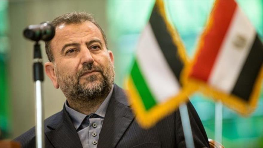 El jefe adjunto de la Oficina Política del Movimiento de Resistencia Islámica de Palestina (HAMAS), Saleh al-Aruri.