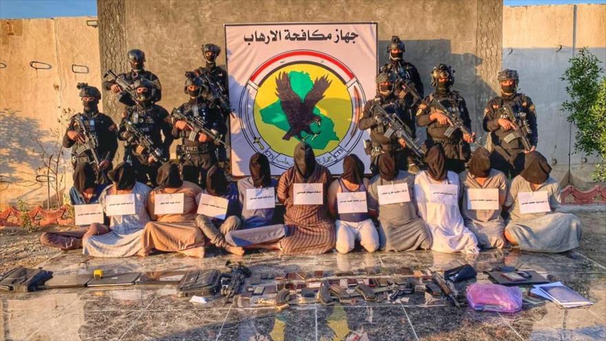 Tropas iraquíes desmantelan una célula terrorista en la ciudad de Baiyi, en Salah al-Din (centro), 18 de octubre de 2020.
