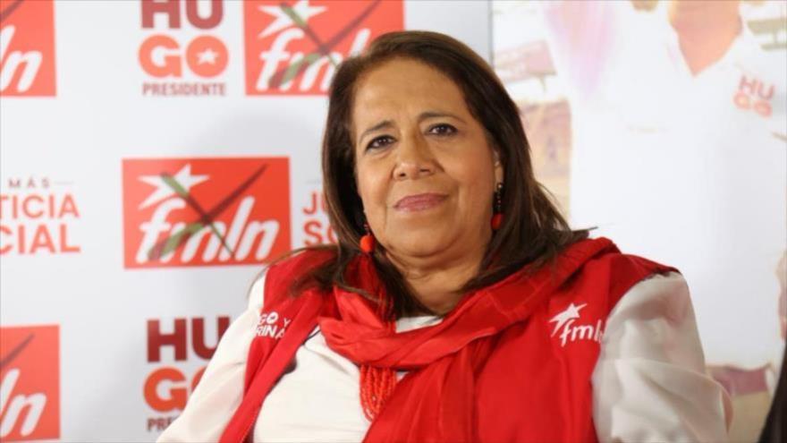 Nidia Díaz, diputada del Frente Farabundo Martí para la Liberación Nacional (FMLN) de El Salvador.