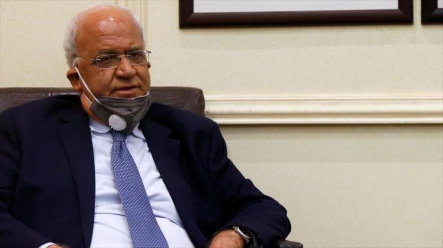 El secretario general de la Organización para la Liberación de Palestina (OLP), Saeb Erekat.